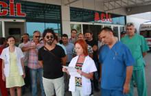 Sağlıkta şiddet Didim'de, SES'liler eylemde