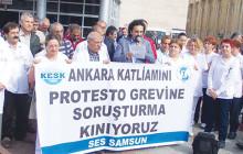 Samsun: Ankara Katliamını protesto için greve çıkan sağlık emekçilerine soruşturma