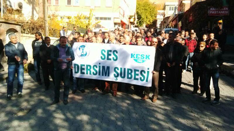 DERSİM ŞUBEMİZ İŞYERİ TEMSİLCİMİZİN AÇIĞA ALINMASINI PROTESTO ETTİ