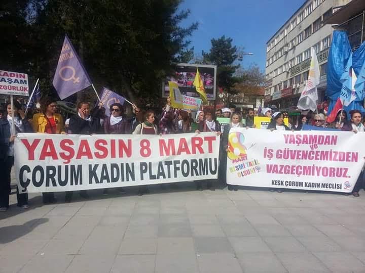 8 Mart'ta Çorum'da Faşist Tehditlere Pabuç Bırakılmadı!
