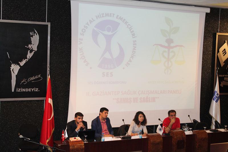 """GAZİANTEP ÖĞRENCİ KOMİSYONUMUZ """"SAVAŞ VE SAĞLIK"""" KONULU PANEL DÜZENLEDİ"""