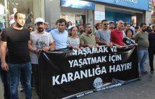 DİYARBAKIR'DA AÇLIK GREVİNE DESTEK EYLEMİNE POLİS SALDIRISI