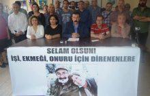 Mersin'de Açlık Grevindeki Eğitim-Sen üyeleri için Yaşam Nöbeti