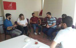 MARDİN'DE KANADA BÜYÜKELÇİLİĞİ KESK'İ ZİYARET ETTİ