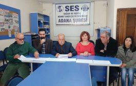 ADANA'DA SAĞLIK VE SOSYAL HİZMETE BÜTÇE İÇİN MİLLETVEKİLLERİNE KART GÖNDERİLDİ