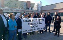 İSTANBUL'DA OKMEYDANI HASTANESİ'NDE İŞTEN ATILAN TAŞERON İŞÇİ İÇİN BASIN AÇIKLAMASI YAPILDI