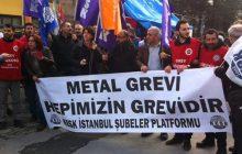 Grev Haktır Yasaklanamaz! Metal İşçilerinin Yanındayız!