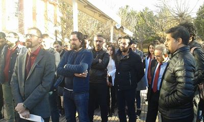 Cumhuriyet Üniversitesi Hastanesi'nde Ağaç Kesimine Tepki