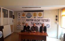 Bursa SES ve Eğitim-Sen Şubeleri: Uludağ Üniversitesi Rektörü Yusuf Ulçay'ın Uygulamalarına Karşı Mücadele Etmekte Kararlıyız!