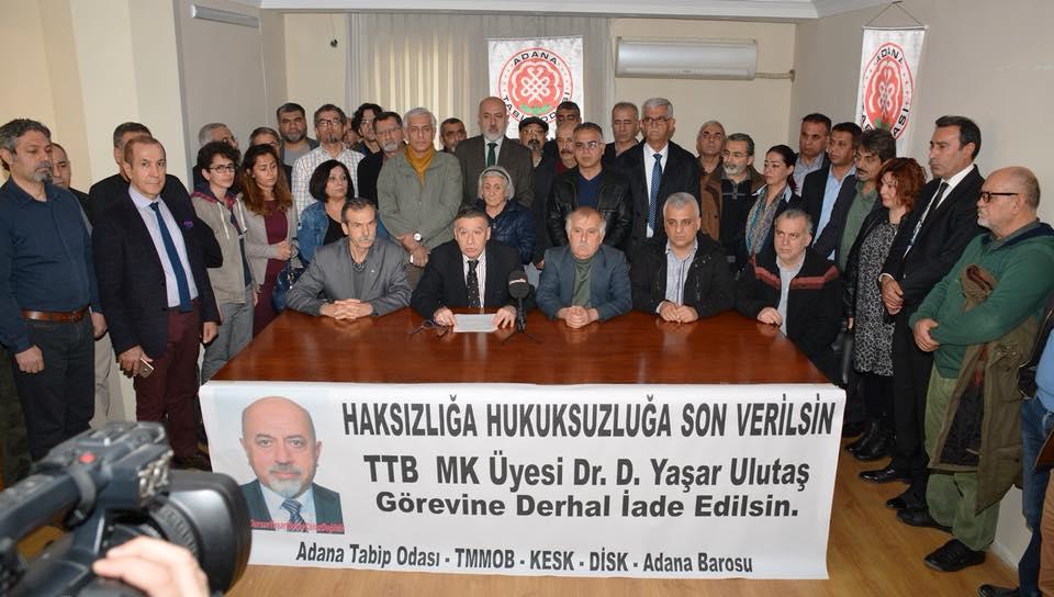 Adana: Dursun Yaşar Ulutaş Görevine İade Edilsin