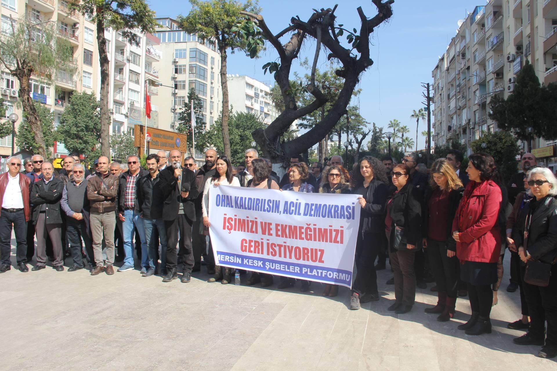 KESK Mersin Şubeler Platformu: OHAL Kaldırılsın!