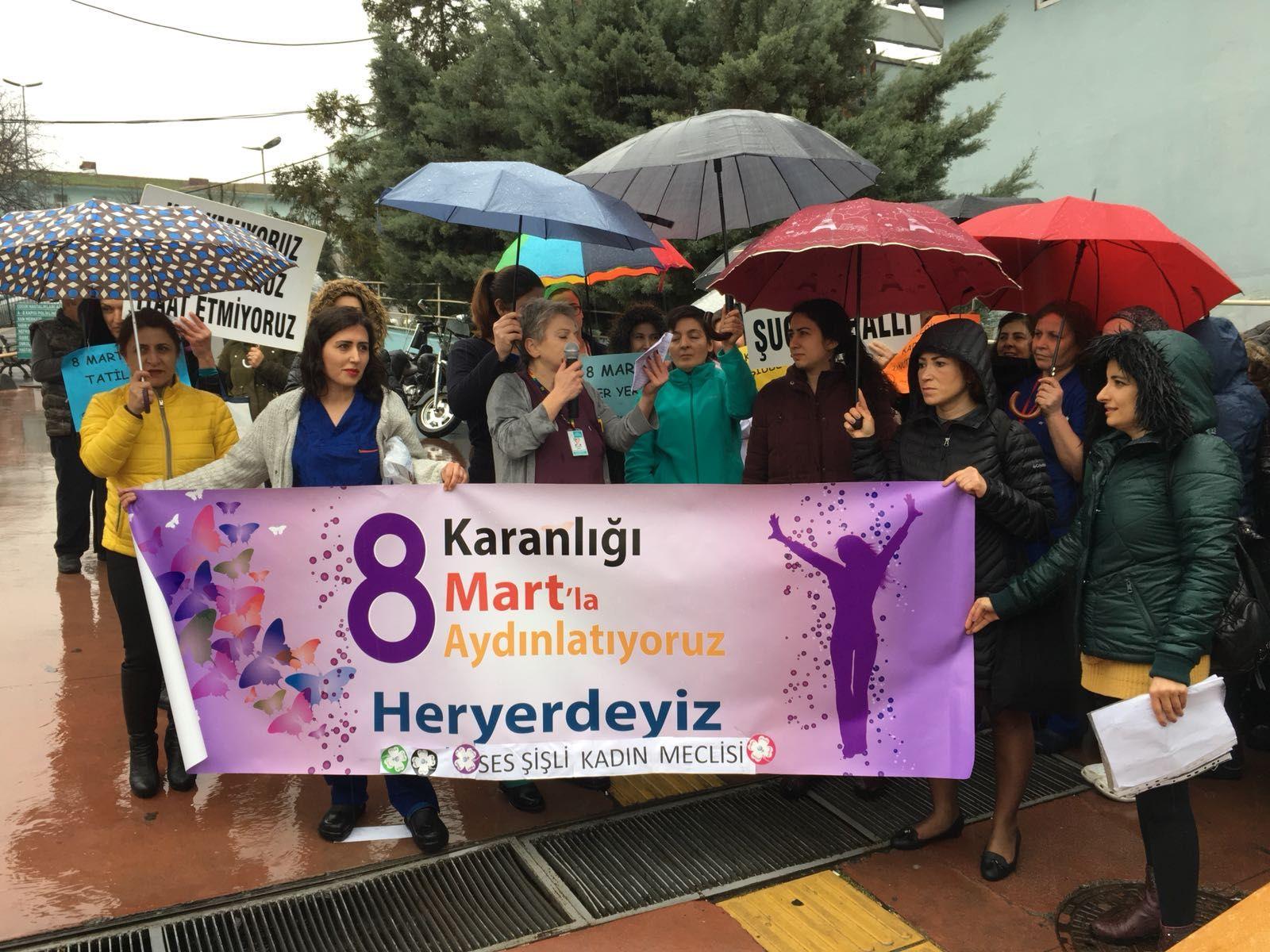 Şişli Şube Kadın Meclisi'nden Hastane Önünde 8 Mart Eylemi