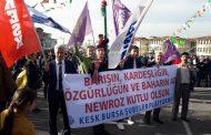 KESK Şubeler Platformu Bursa'da Newroz Kutlamalarına Katıldı