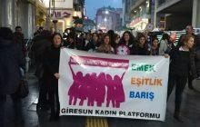 Giresun'da Kadınlar Haykırdı: Emek, Eşitlik, Barış