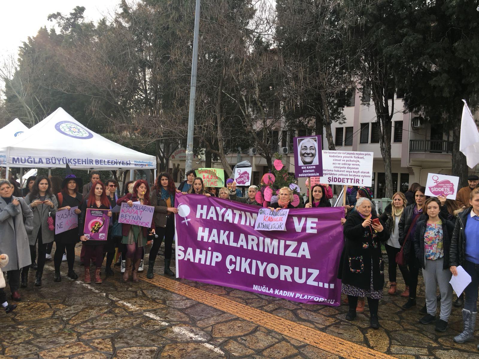 Muğla'da Kadınlar Haykırdı: Hayatımıza ve Haklarımıza Sahip Çıkıyoruz