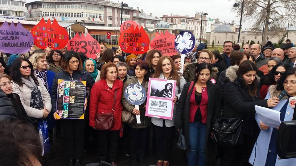 Sivas'ta Kadınlar Taleplerini Haykırdı