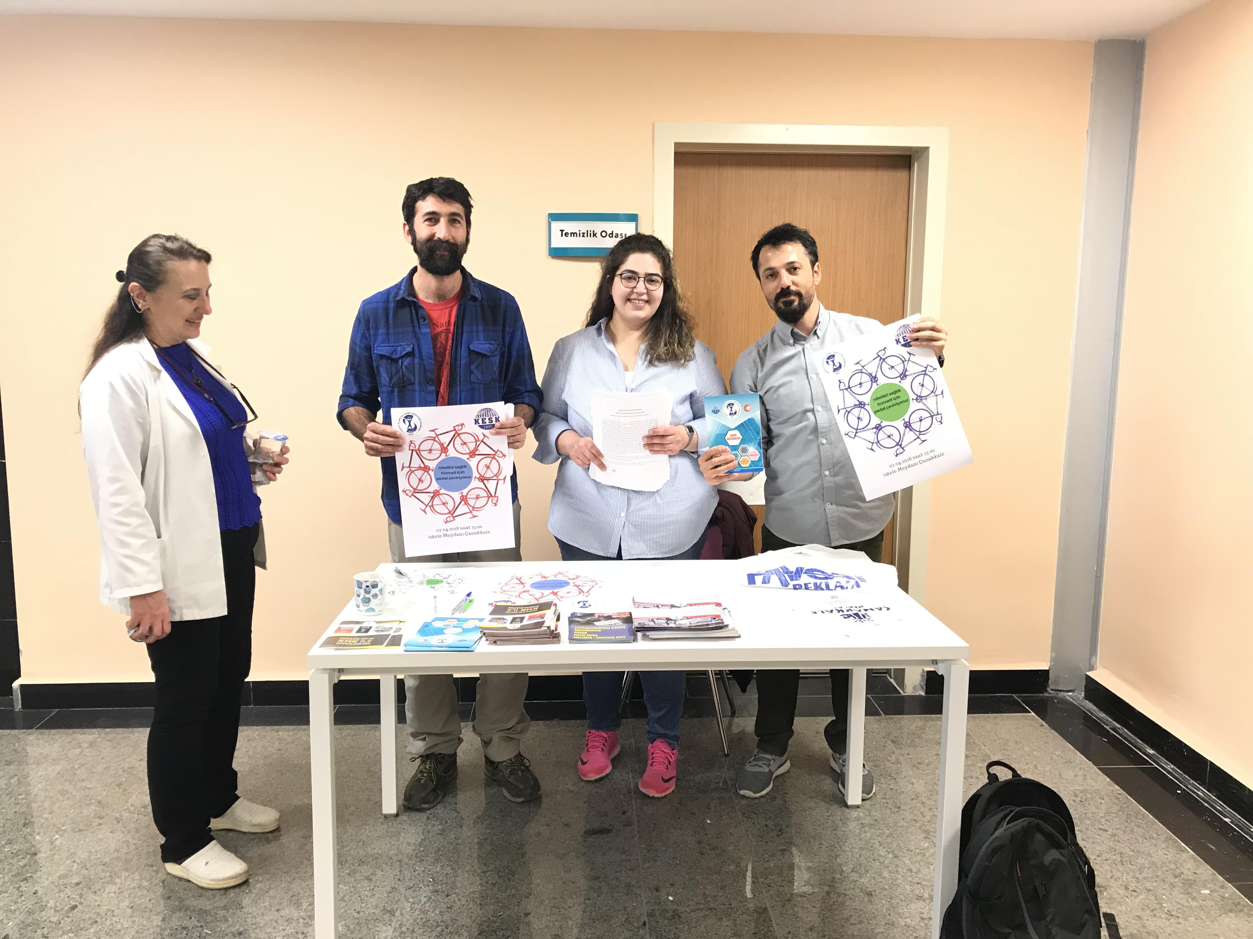 Çanakkale Şubemiz Mehmet Akif Ersoy Hastanesi'nde Bildiri ve Broşür Dağıtımı Gerçekleştirdi