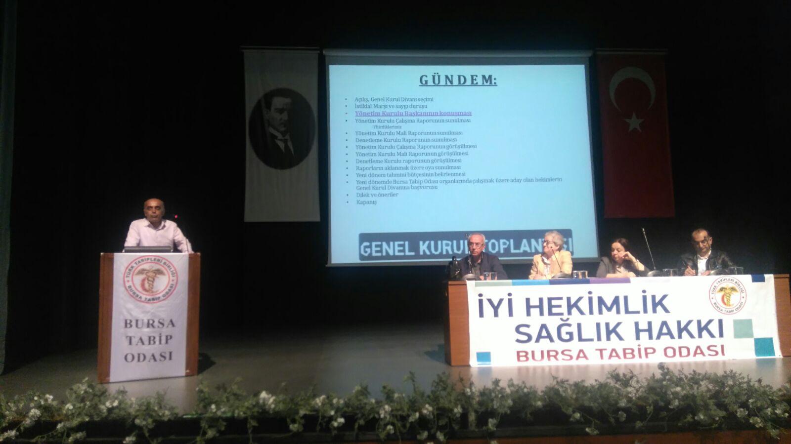 KESK Şubeler Platformu Bursa Tabip Odası Kongresine Katıldı
