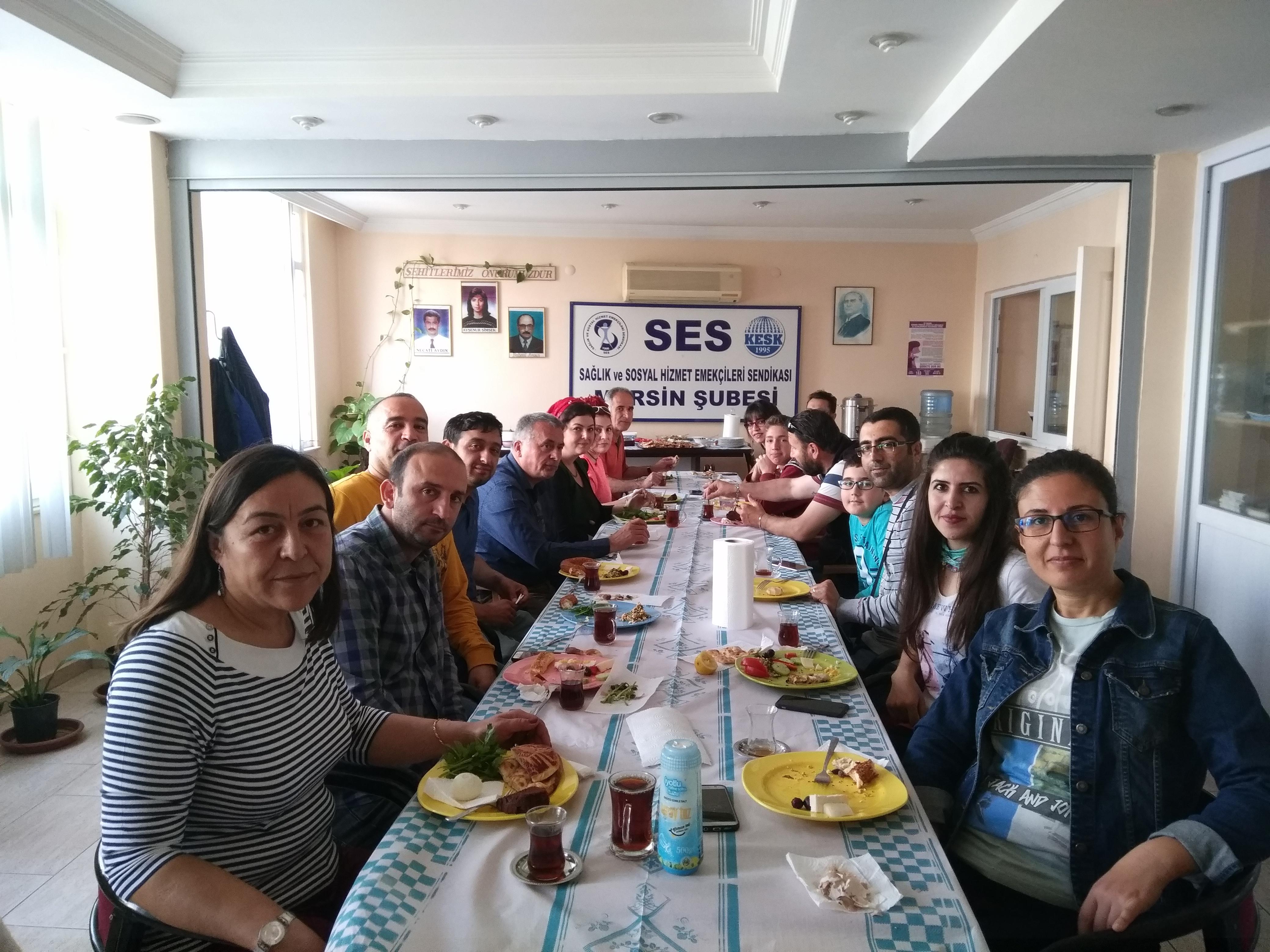 Mersin Şubemiz Üyelerin Katılımıyla Yaptığı Etkinliklerine Devam Ediyor