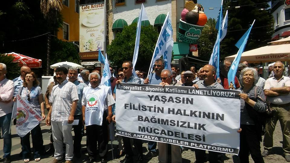 KESK Antalya Şubeler Platformu: Filistin Halkı Yalnız Değildir