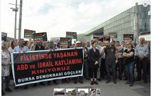 Bursa'da da İsrail'in Filistin'e Yönelik Saldırısı Kınandı