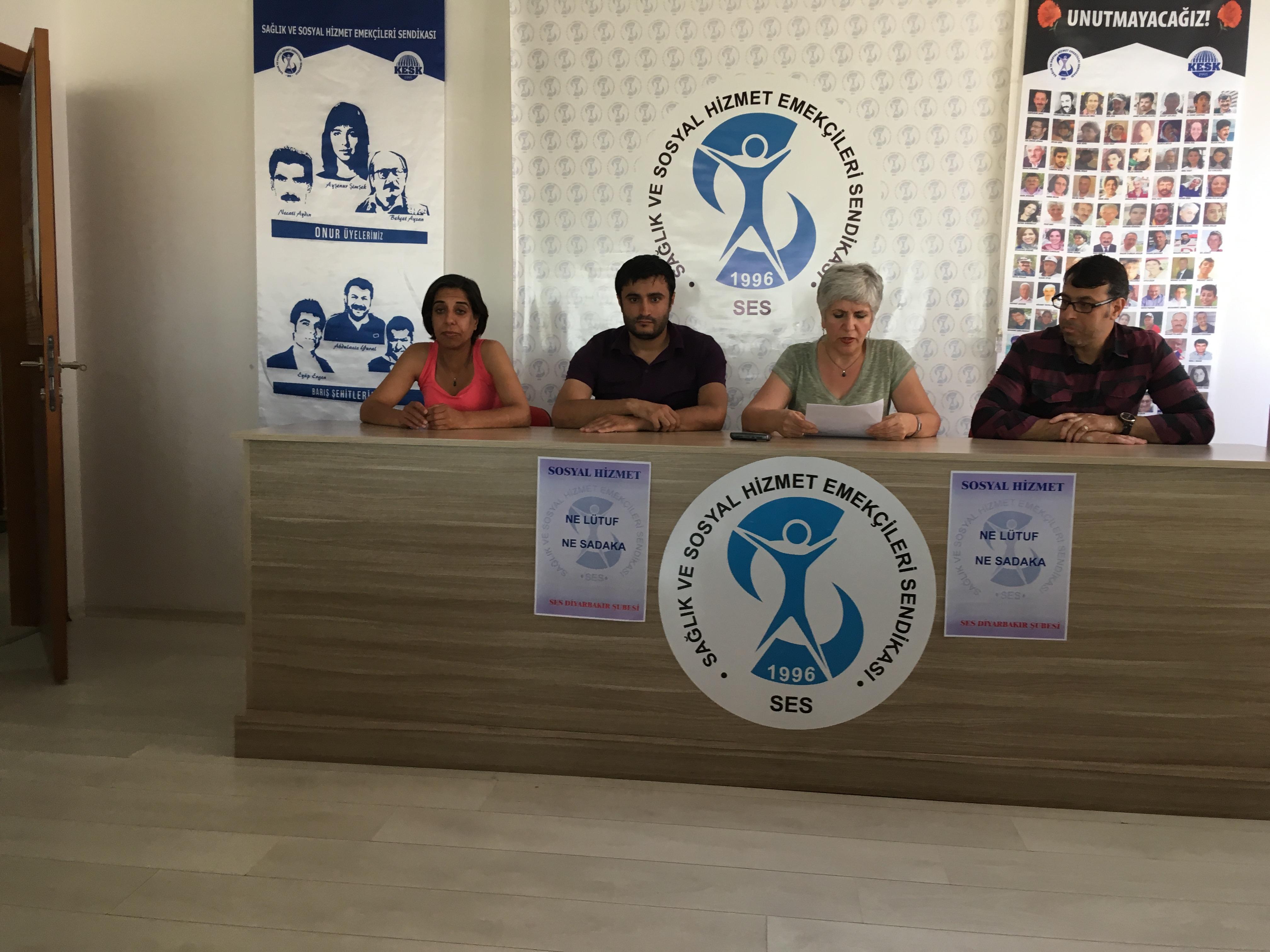 Diyarbakır Şubemizden Seçim Hesabı Yapan Aile ve Sosyal Politikalar Bakanlığı'na Tepki