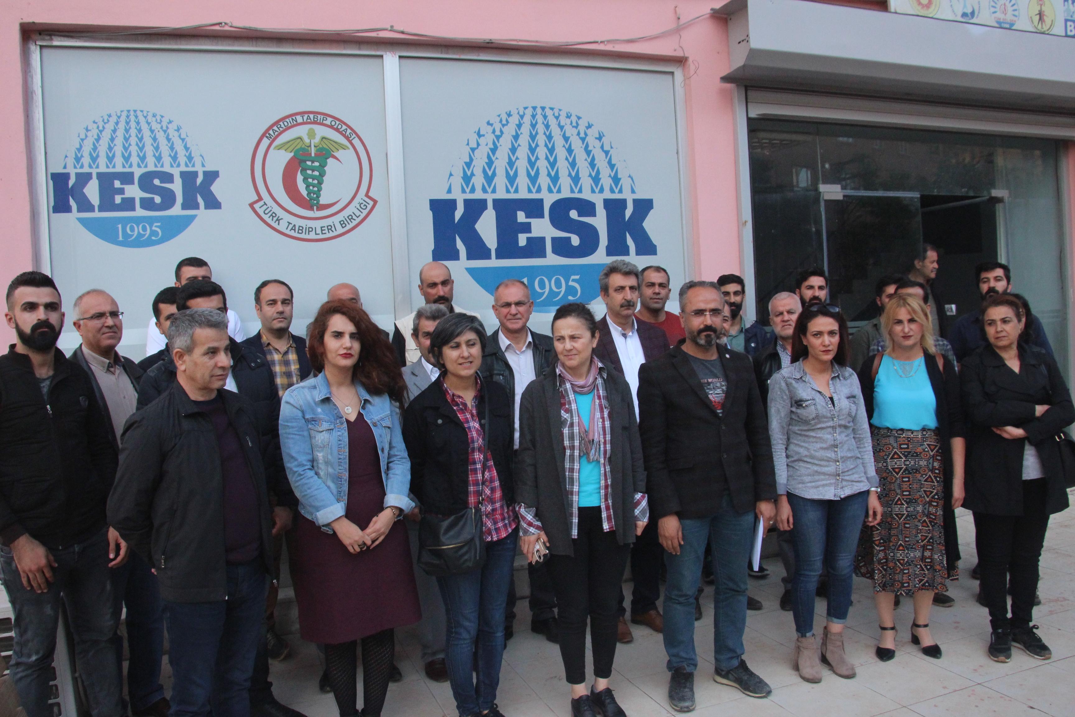 KESK Mardin Şubeler Platformu: İsrail Devleti'nin Filistin halkına karşı gerçekleştirdiği katliamı lanetliyoruz