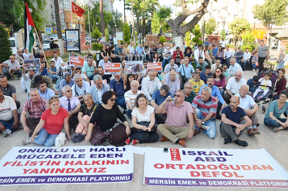 Mersin Emek ve Demokrasi Platformu'ndan Filistin Halkıyla Dayanışma Çağrısı