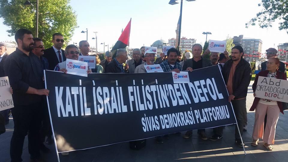 Sivas Demokrasi Platformu İsrail'i Kınadı