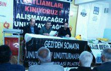 Sivas'da Soma Katliamı Anması Gerçekleştirildi