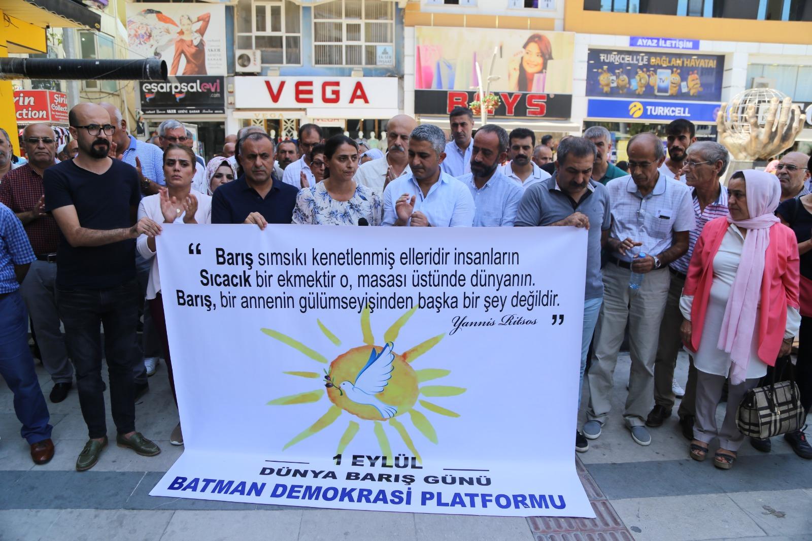 Batman Demokrasi Platformu 1 Eylül Diyarbakır Mitingine Çağrı Yaptı