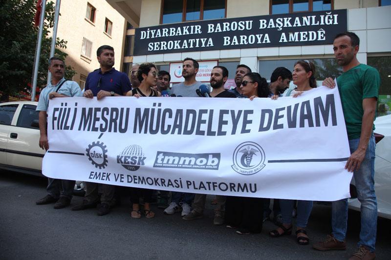 DİYARBAKIR'DA DEMOKRATİK EYLEMLERİMİZE PARA CEZASI