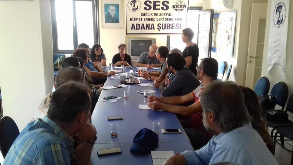 Adana Şubemizde Örgütlenme Toplantısı Gerçekleştirildi