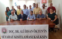 Adana: Dr. Ali İhsan Ökten Hakkındaki Seyahat Kısıtlaması Kararı Kaldırılsın