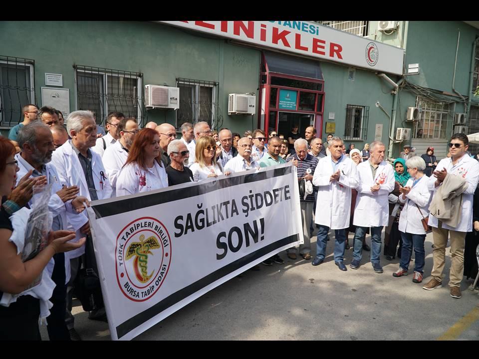 Bursa: Sağlıkta Şiddete Hayır!
