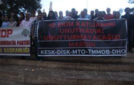 Mardin'de 10 Ekim Katliamı Anması Yapıldı