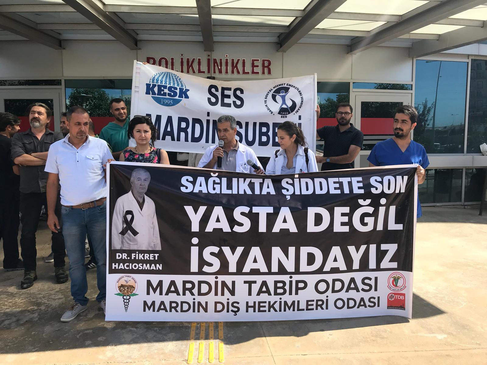 Mardin: Artık yeter! Bir arkadaşımızı daha bu şiddet ortamında kaybetmek istemiyoruz!