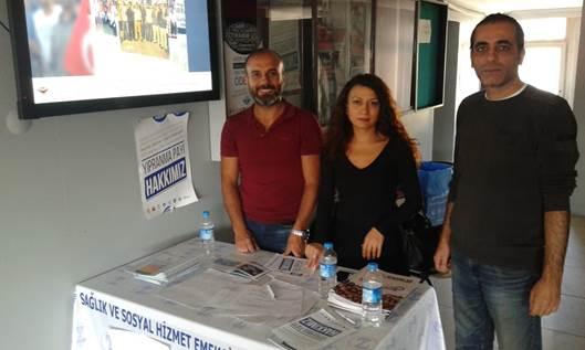 Zonguldak Şubemizden Yıpranma Payı İçin Hastanelerde İmza Kampanyası
