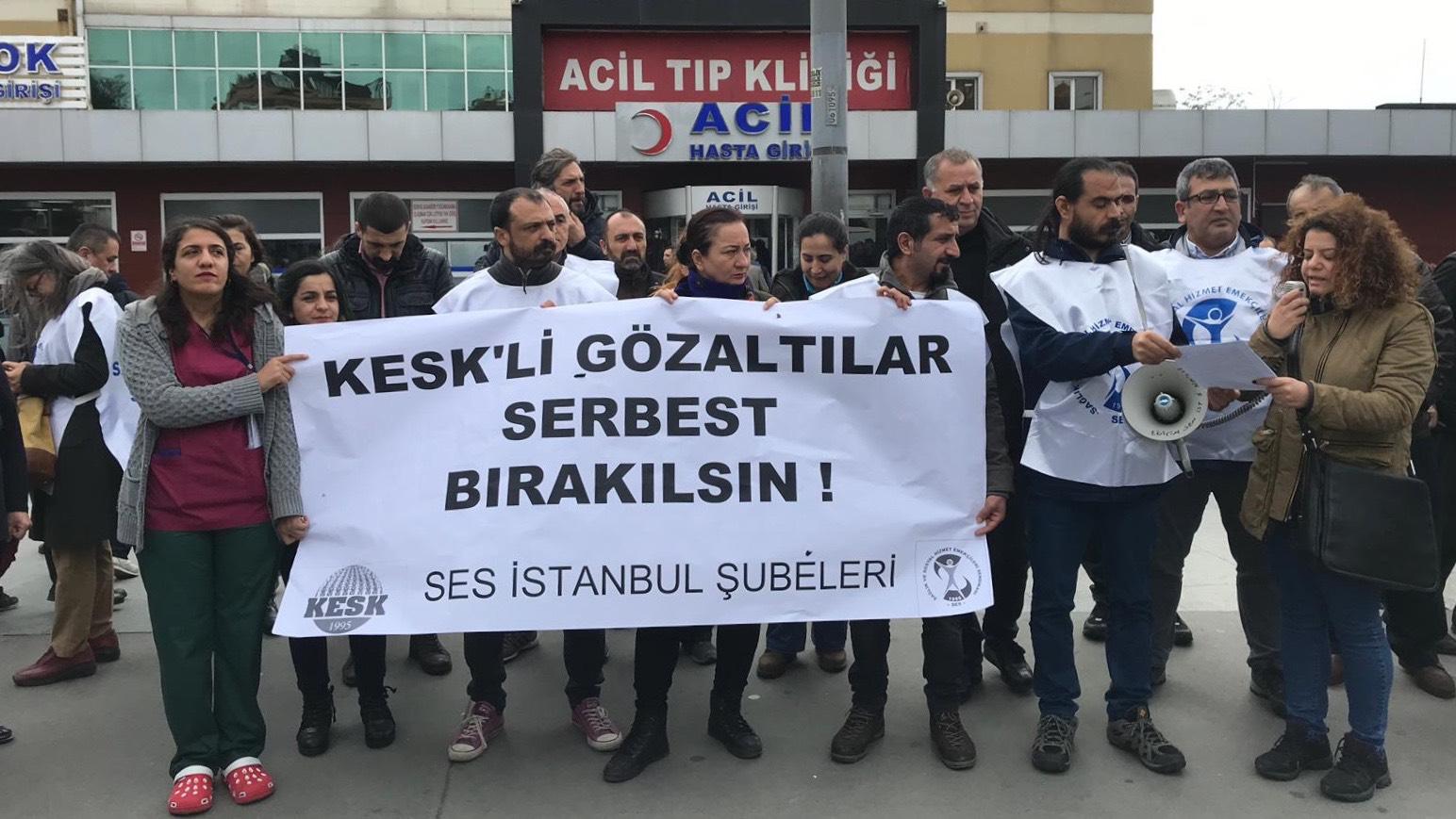 SES İstanbul Şubeleri: Eş Başkanımız ve KESK'liler Derhal Serbest Bırakılsın