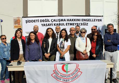 İzmir: Şiddeti Değil, Çalışma Hakkını Engelleyen Yasa Tasarısını Kabul Etmiyoruz