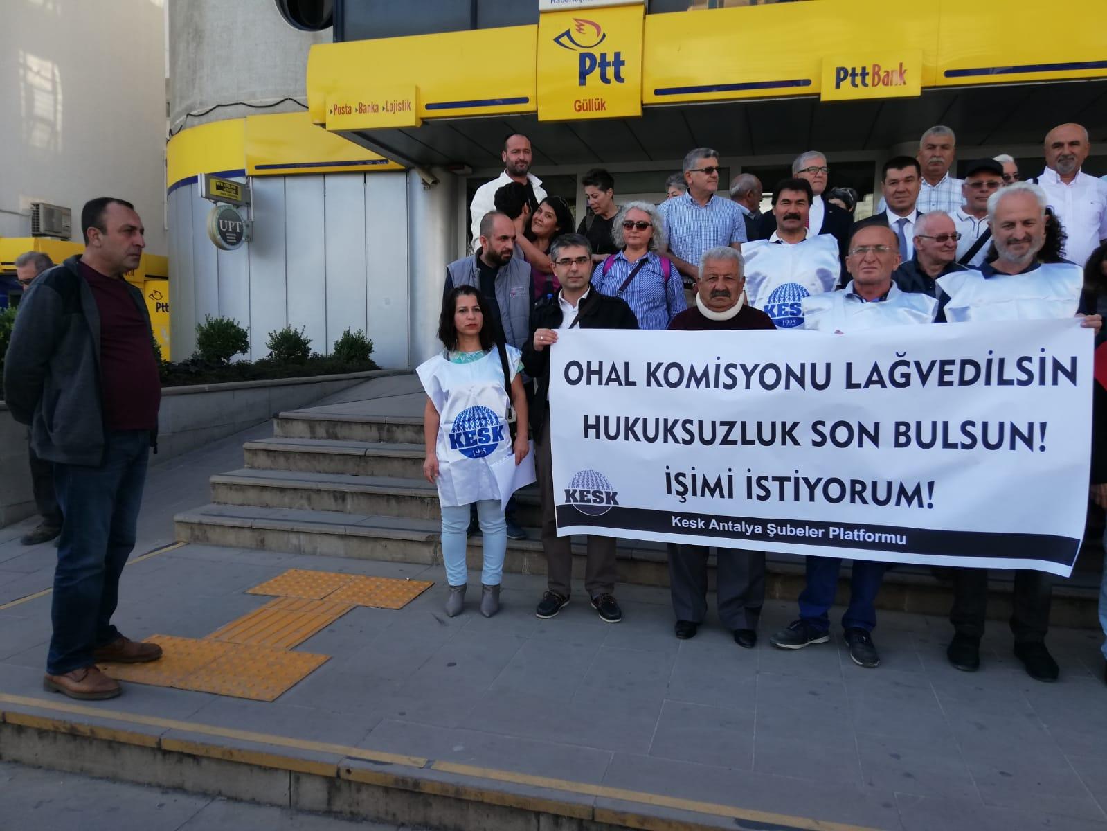 KESK Antalya Şubeler Platformu'ndan Faks Eylemi: OHAL İnceleme Komisyonu Lağvedilip Hukuksal Süreç Başlatılsın