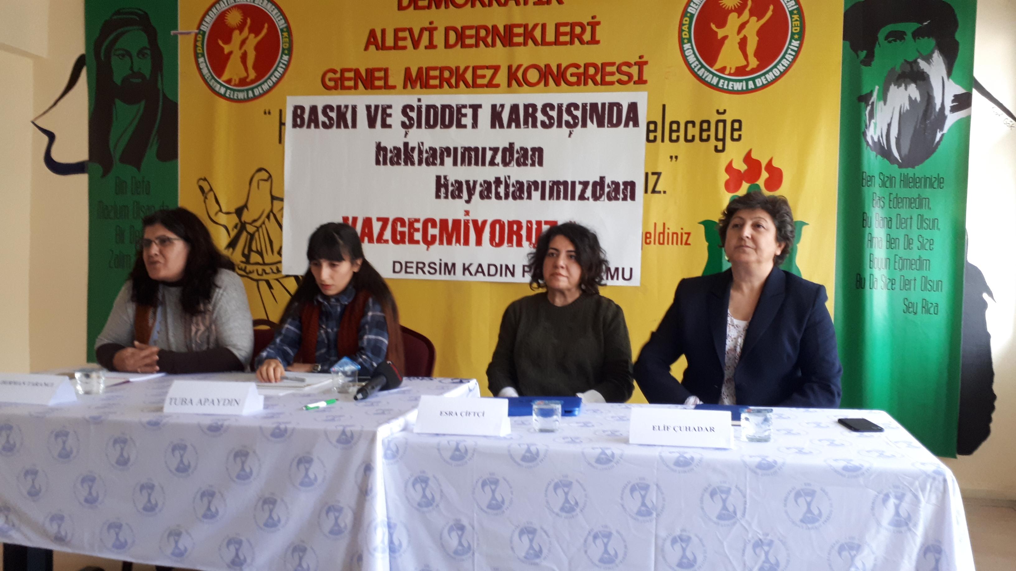 Dersim Kadın Platformu Yoksulluğa, Güvencesizliğe, Şiddete Karşı Kadın Mücadelesini Konuştu