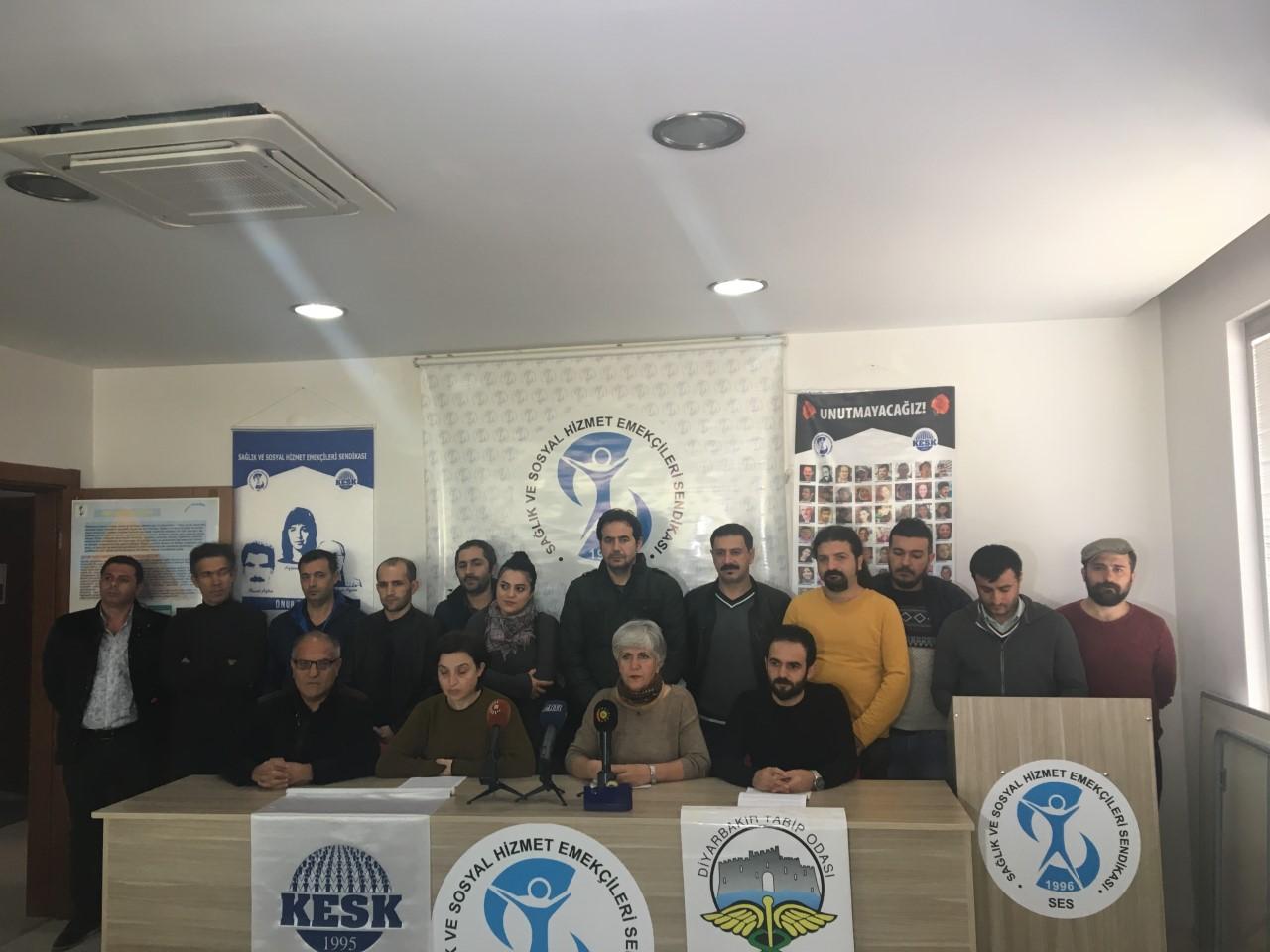 Diyarbakır KESK Şubeler Platformu ve Diyarbakır Tabip Odası: Gözaltılar Derhal Serbest Bırakılsın!