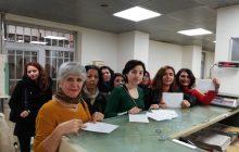Diyarbakır Dicle Amed Kadın Platformu Tutsak Kadınlara Kart Gönderdi