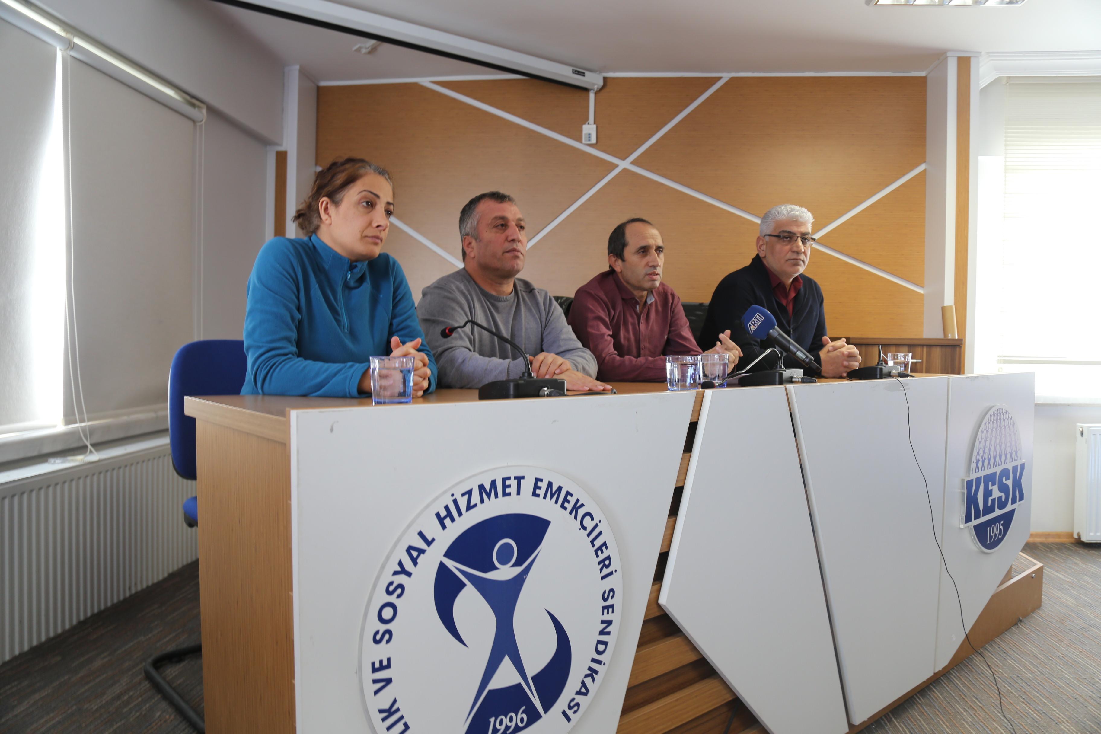 KESK: Gözaltına Alınan Arkadaşlarımız Derhal Serbest Bırakılmalıdır!