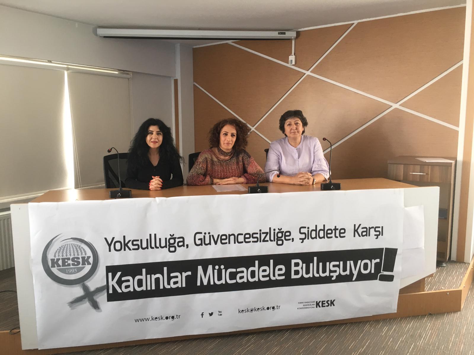 KESK 25 Kasım Kadına Yönelik Şiddete Karşı Mücadele Programını Açıkladı: Yoksulluğa, Güvencesizliğe, Şiddete Karşı Kadınlar Mücadelede Buluşuyor!