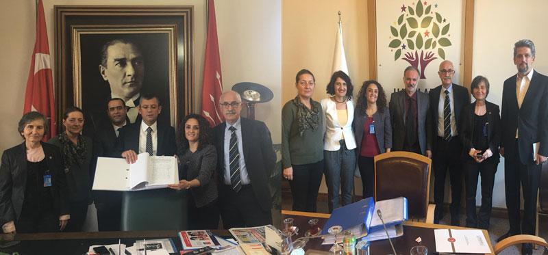 Yıpranma Payı İmzalarını Emek ve Meslek Örgütleriyle Birlikte Meclis'e İlettik