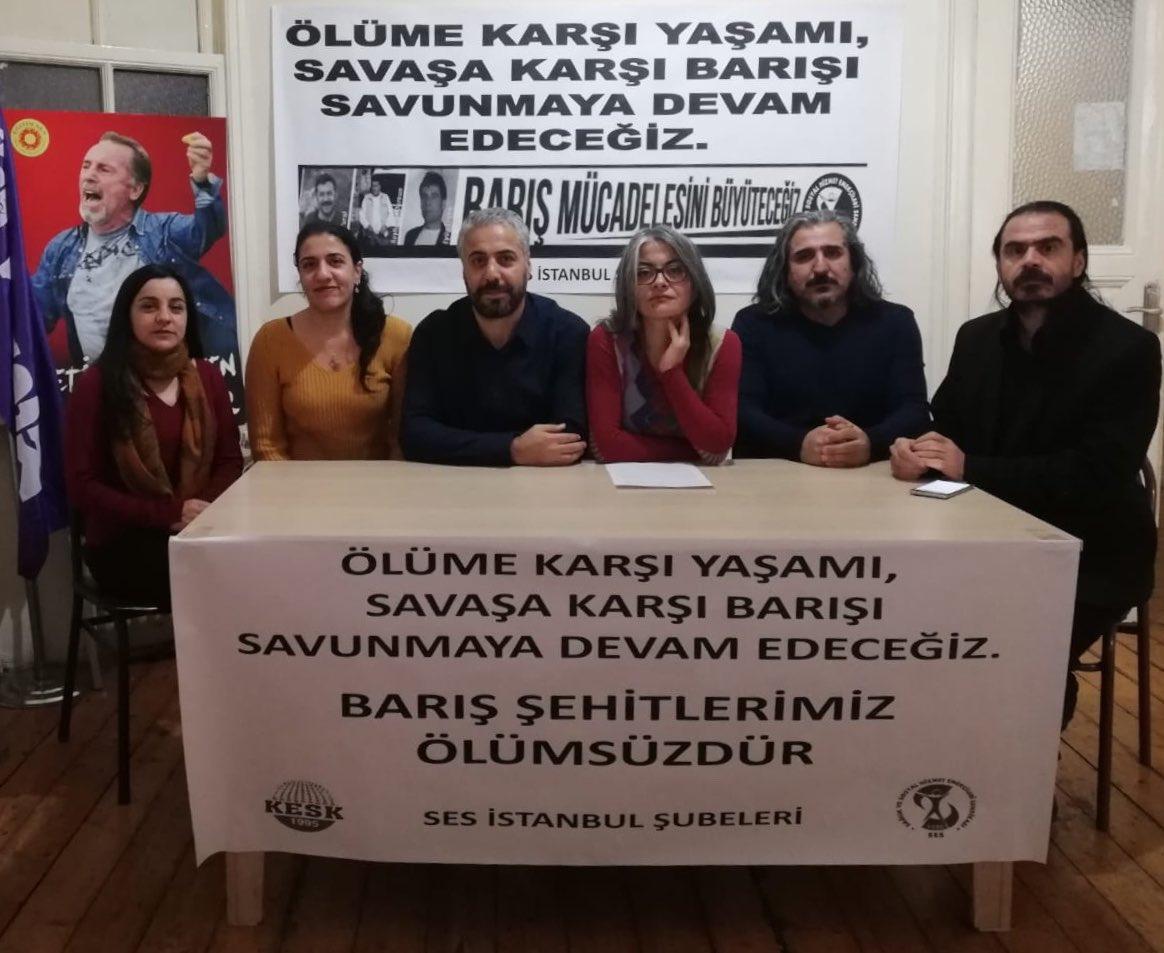 İstanbul Şubelerimiz: Başta Eyüp, Şeyhmuz ve Aziz Olmak Üzere Yitirdiğimiz Tüm Sağlık ve Sosyal Hizmet Emekçilerine Sözümüz Barış Olacak