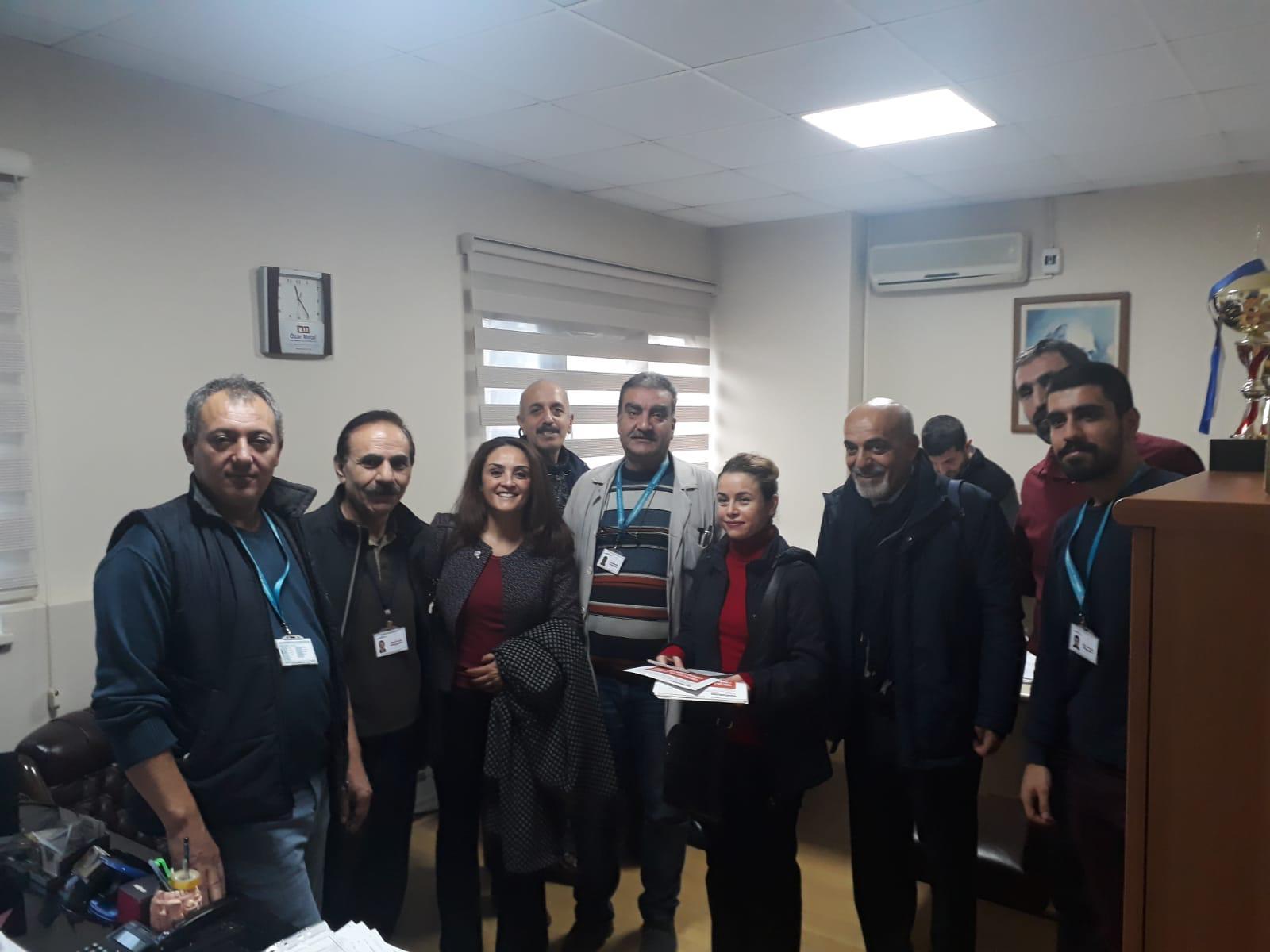 22 Aralık KESK İstanbul Bölge Mitingi İçin Bursa'da Çalışmalar Devam Ediyor