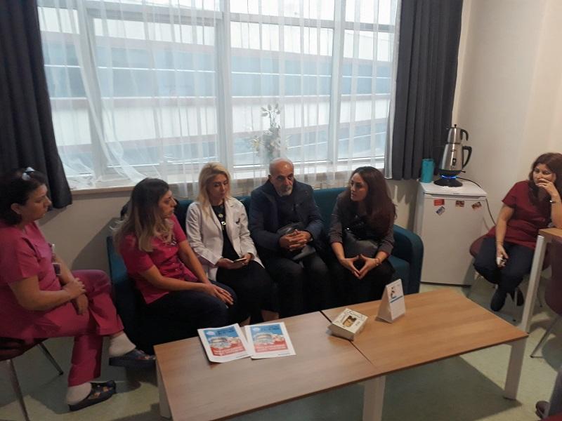 22 Aralık KESK İstanbul Bölge Mitingi Öncesinde Bursa Hastanelerinde Çalışmalarımız Devam Ediyor